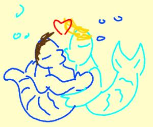 2 mermen in love