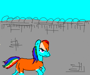 Rainbow MLP in prison yard