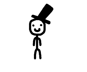 Smiling guy with a top hat on