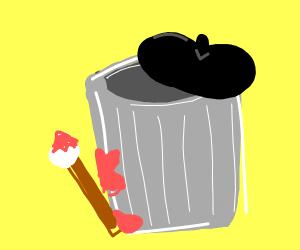 Artistic Trash Can
