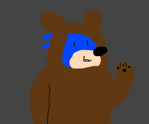 sonic in a bear fursuit