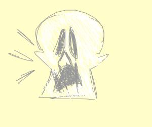 surprised skull