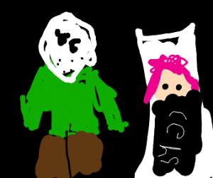 masked man with wifu
