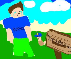 Sad Roblox dude commiting a crime of worms
