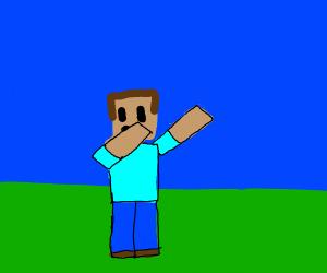 Minecraft Steve dabbing