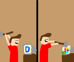 Man breaks Drawception D