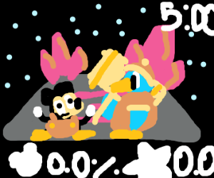 smash match between mickey and king dedede