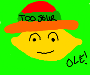Lemon with sombrero