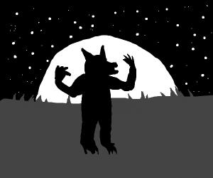 Werewolf silhouette