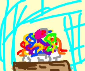 rainbow spaghetti