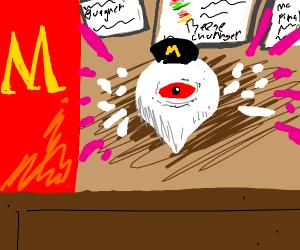 Zero 2 (Kirby) now works at McDonald