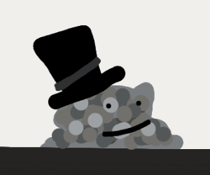 crap with a top hat