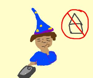 Bored millenial wizard