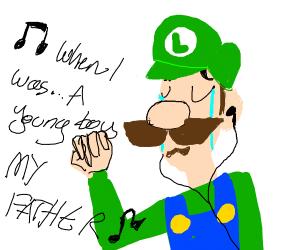 Luigi singing to My Chemical Romance