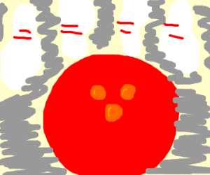 a red ball, Uncle Ring or Circle,ing/bowling?
