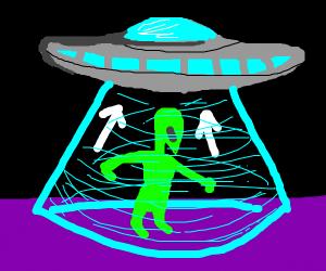 alien entering ufo