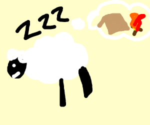 Sheep dreams of camping