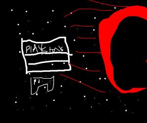 blackholes sucking in playstation