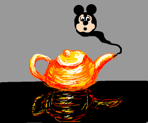 mickey mouse becomes a genie