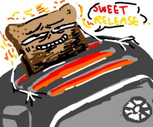 sentient bread toasting itself
