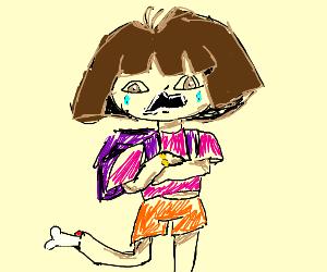 Dora the Explorer Brakes her Legs