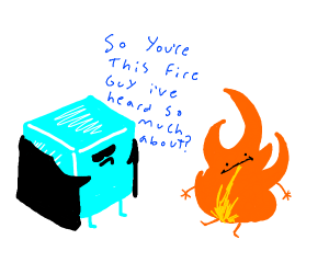 Ice meets fire
