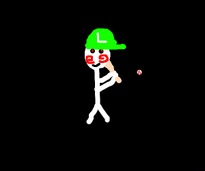 luigi is saw and also baseball player