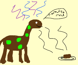 Brown Dinosaur summons brownie (food)
