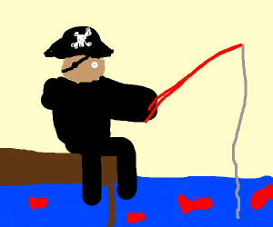 Pirate fishing for red fish