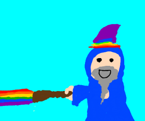 one gay wizard with two heads trips on acid