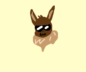 Super chill Eevee with sunglasses
