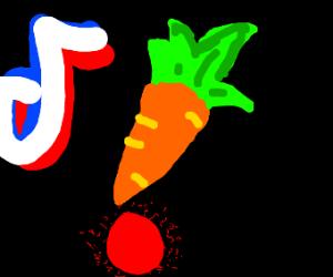 a carrot on tiktok