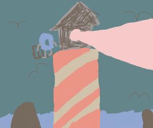 Drawception hangs on a lighthouse