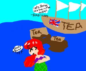 Asriel drowning in tea