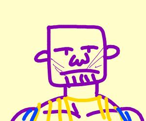 Draw purple creature PIO