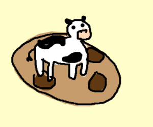 Cow on a cookie