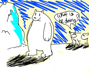 Bipedal polar bear