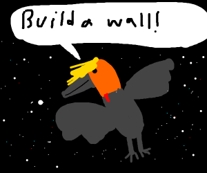 Trumpcrow in outer space