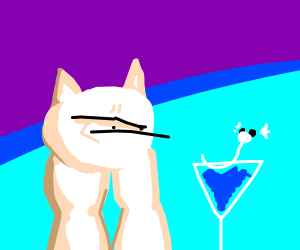 Karl0001's cat with Dratini Martini