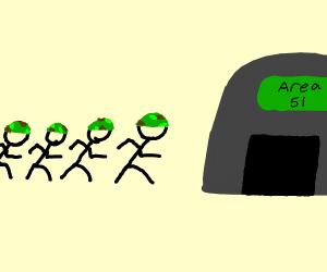 4 guys rushing into area 51