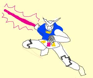 A Gundam Robot (drawn by Teisarr)