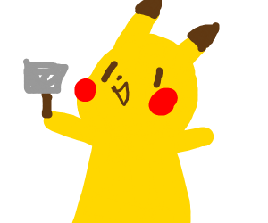A Pikachu With a Hammer