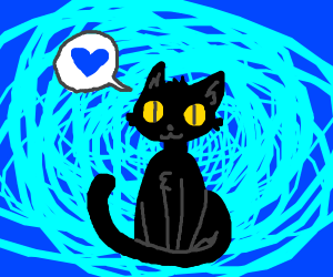 Cute cat loves you