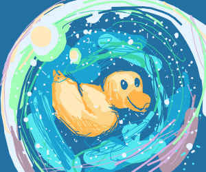 Duck In A Snow Globe