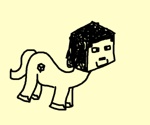 Steve as a pony