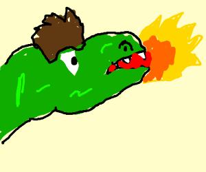 Alan Grant as a T-rex