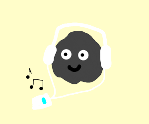 Coal listening to music