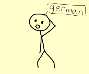 stickman says german