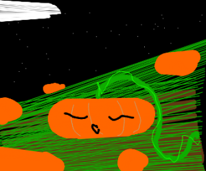 sleeping pumpkin