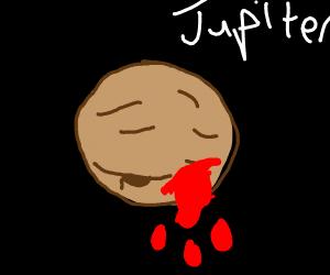 jupiter is bleeding
